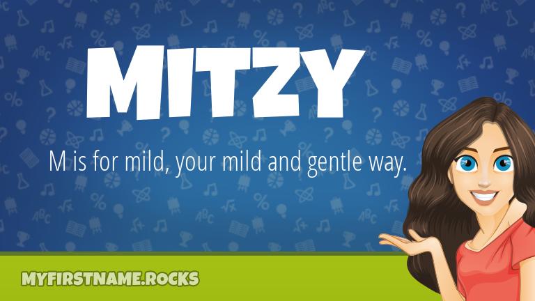 My First Name Mitzy Rocks!