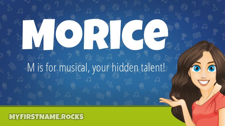 My First Name Morice Rocks!