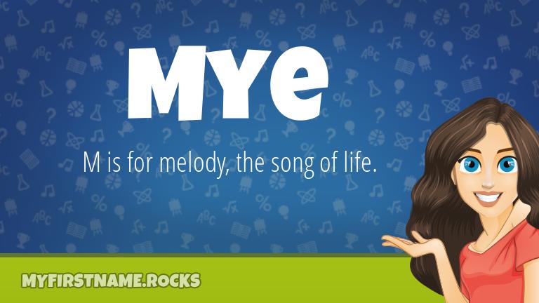 My First Name Mye Rocks!