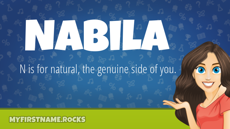 My First Name Nabila Rocks!