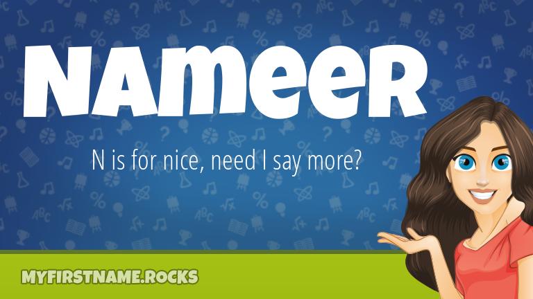 My First Name Nameer Rocks!