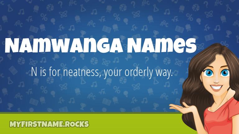 My First Name Namwanga Names Rocks!