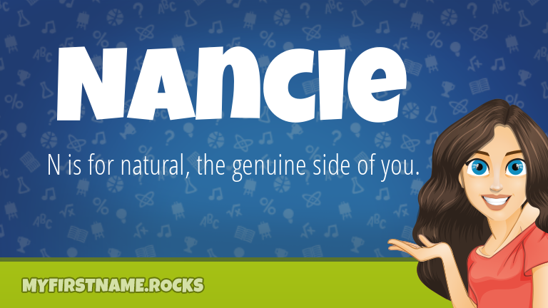 My First Name Nancie Rocks!