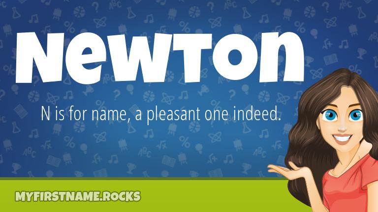 My First Name Newton Rocks!