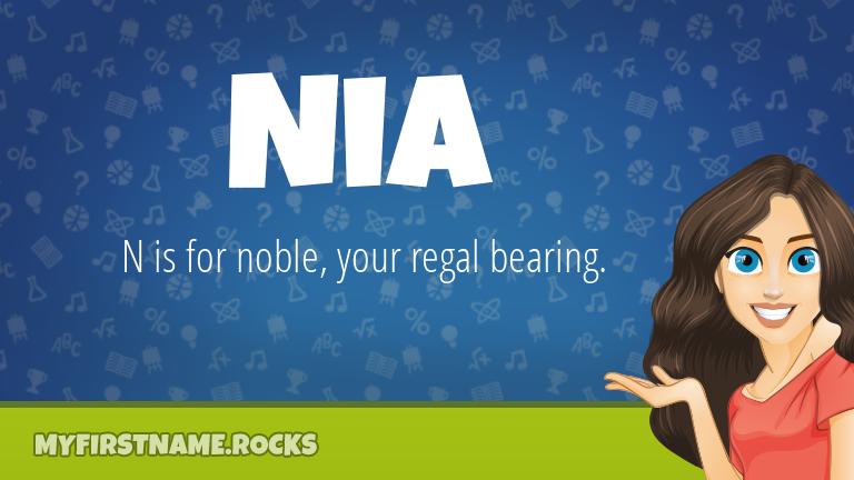 My First Name Nia Rocks!