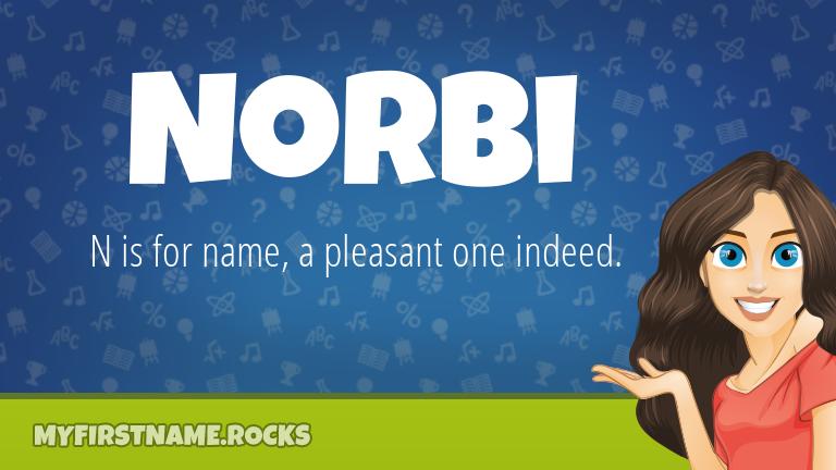 My First Name Norbi Rocks!