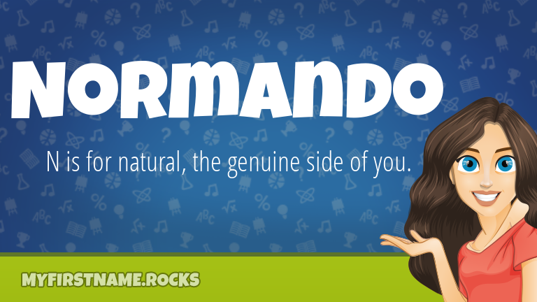 My First Name Normando Rocks!