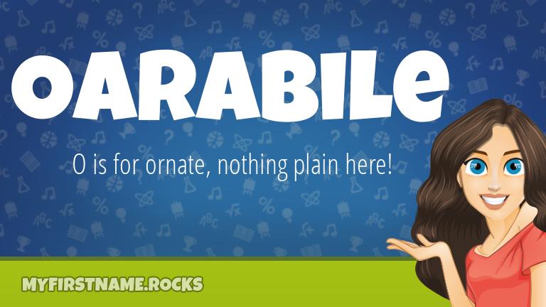 My First Name Oarabile Rocks!