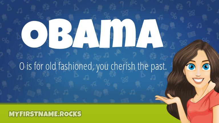 My First Name Obama Rocks!