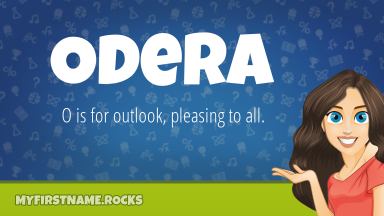 My First Name Odera Rocks!