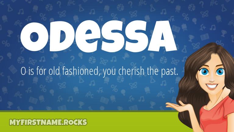 My First Name Odessa Rocks!