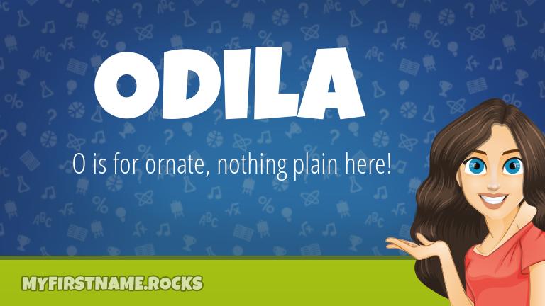 My First Name Odila Rocks!