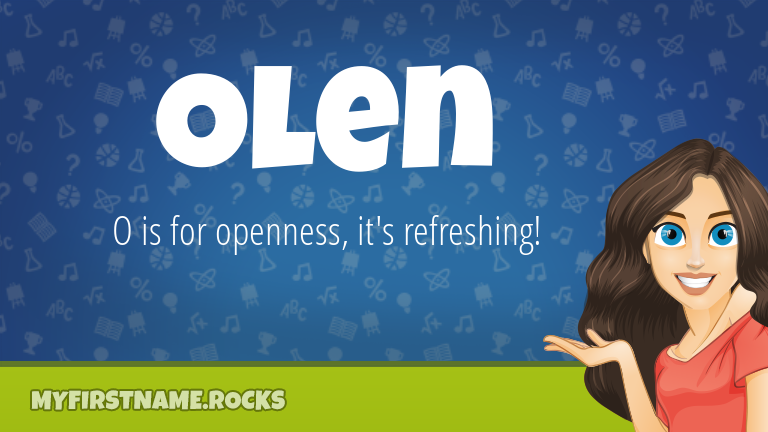 My First Name Olen Rocks!
