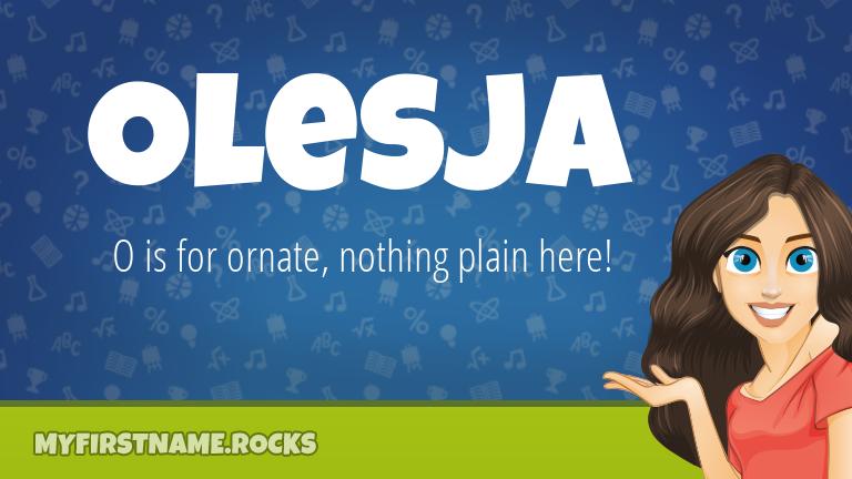 My First Name Olesja Rocks!