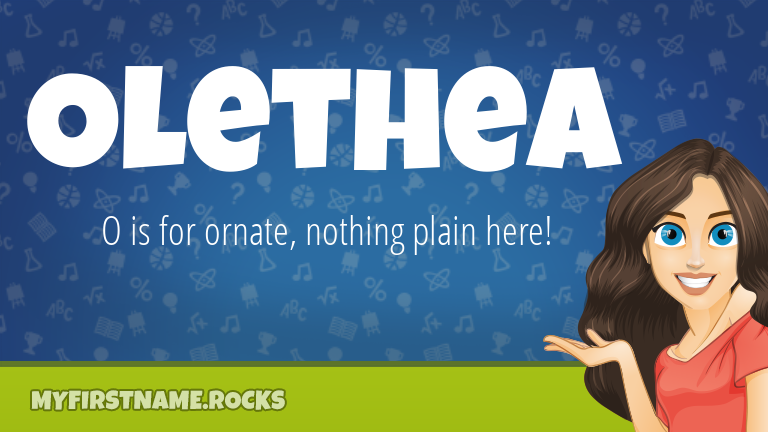 My First Name Olethea Rocks!