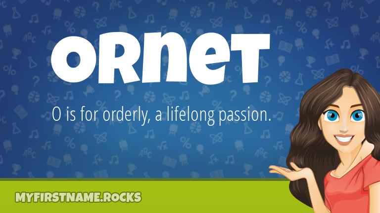 My First Name Ornet Rocks!