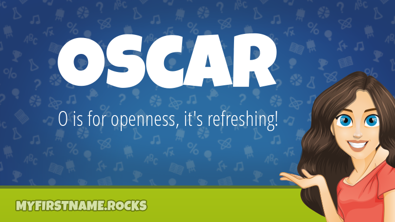 My First Name Oscar Rocks!