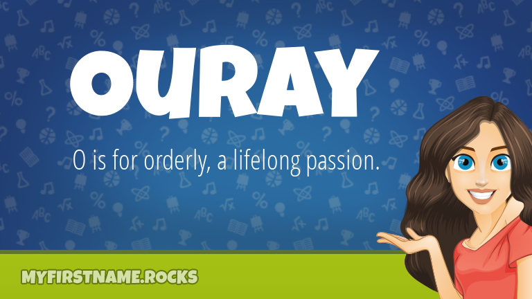 My First Name Ouray Rocks!