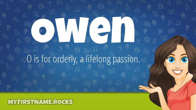 My First Name Owen Rocks!