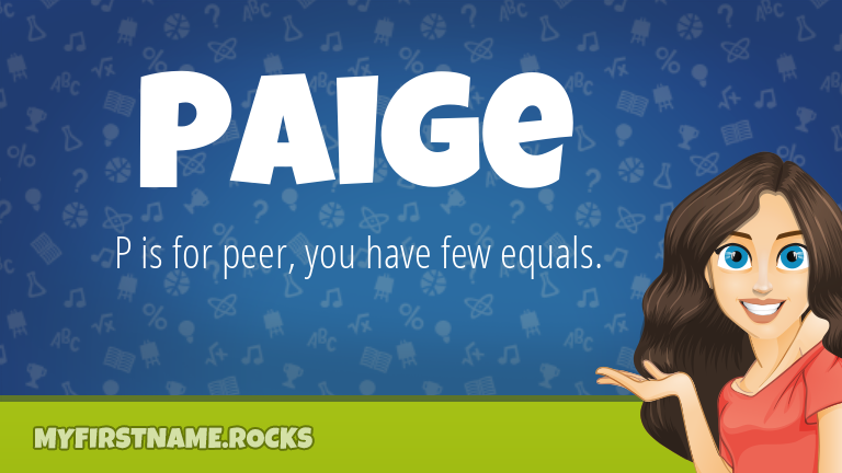 My First Name Paige Rocks!