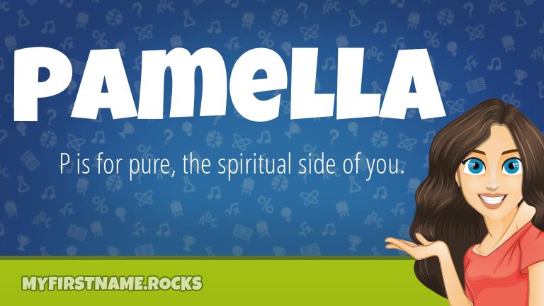 My First Name Pamella Rocks!