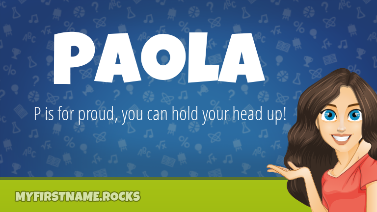 My First Name Paola Rocks!