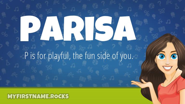 My First Name Parisa Rocks!