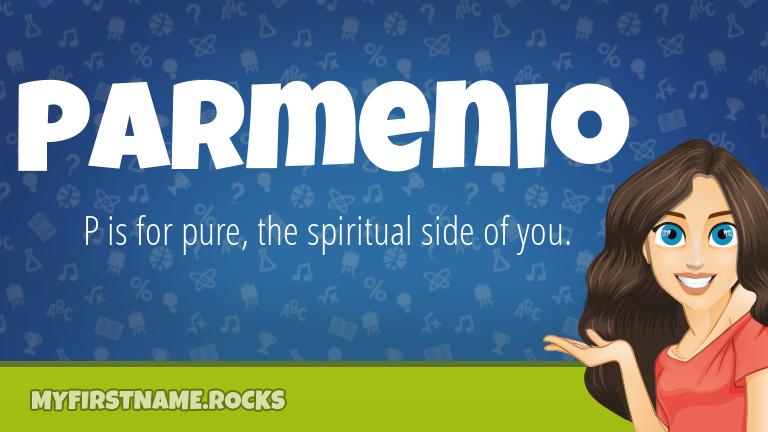 My First Name Parmenio Rocks!