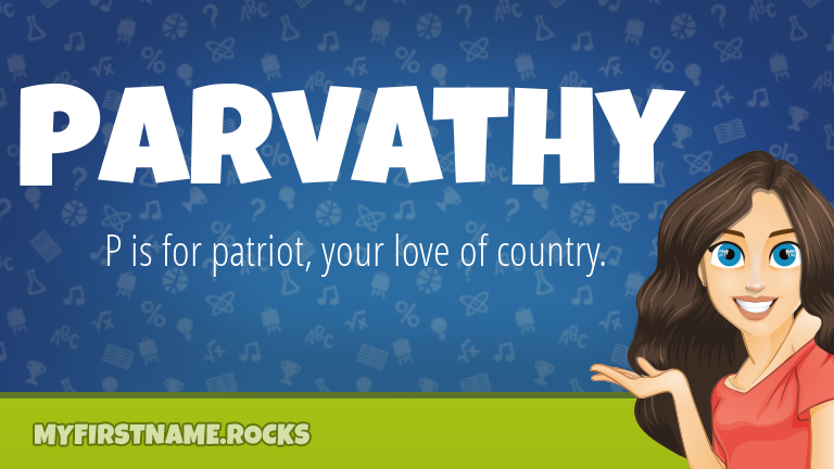 My First Name Parvathy Rocks!