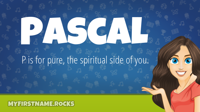 My First Name Pascal Rocks!