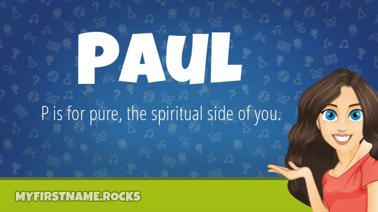 My First Name Paul Rocks!