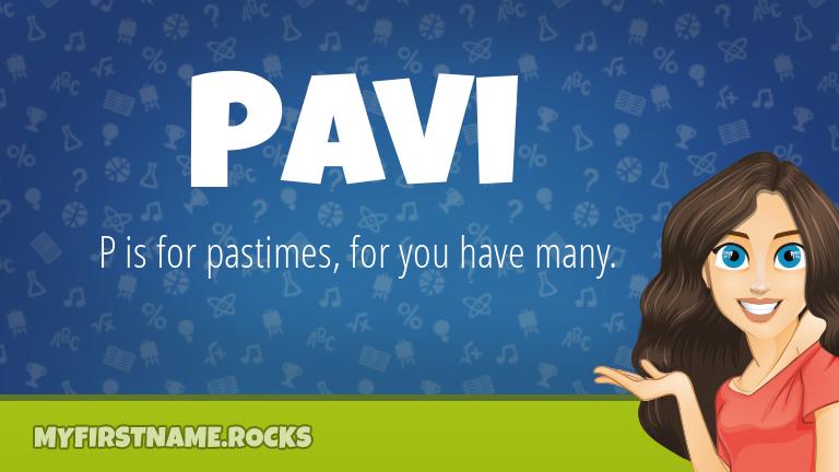 My First Name Pavi Rocks!