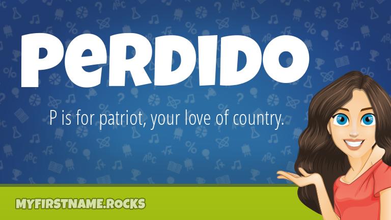 My First Name Perdido Rocks!