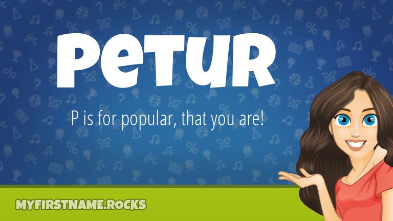 My First Name Petur Rocks!