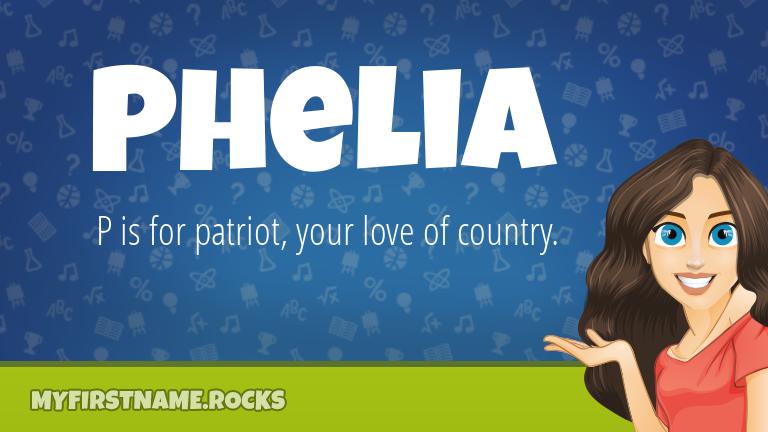 My First Name Phelia Rocks!