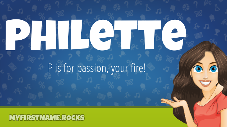 My First Name Philette Rocks!