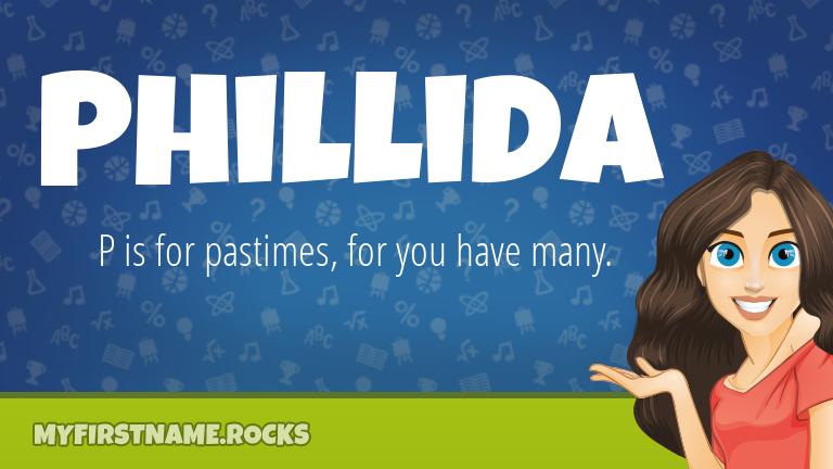 My First Name Phillida Rocks!