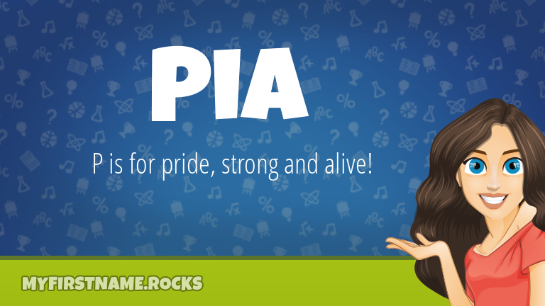 My First Name Pia Rocks!