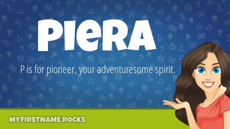My First Name Piera Rocks!