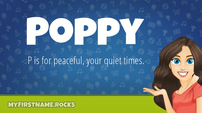 My First Name Poppy Rocks!