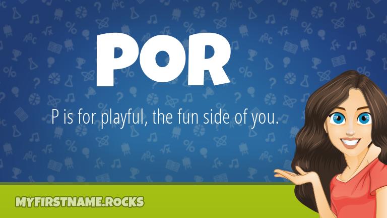 My First Name Por Rocks!