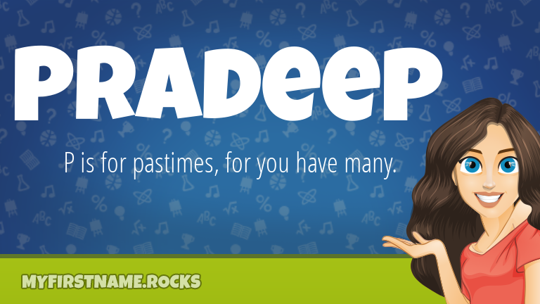 My First Name Pradeep Rocks!