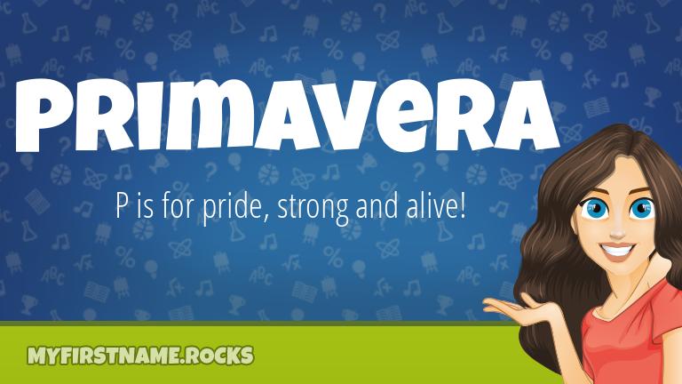 My First Name Primavera Rocks!