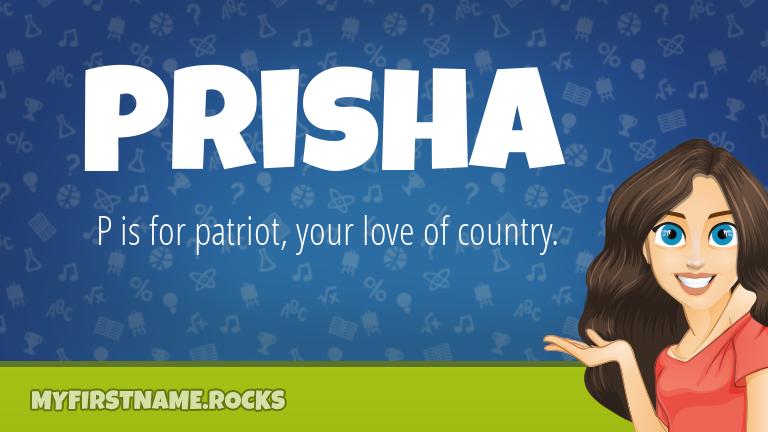 My First Name Prisha Rocks!