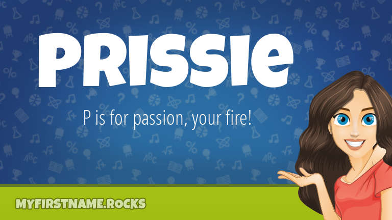 My First Name Prissie Rocks!