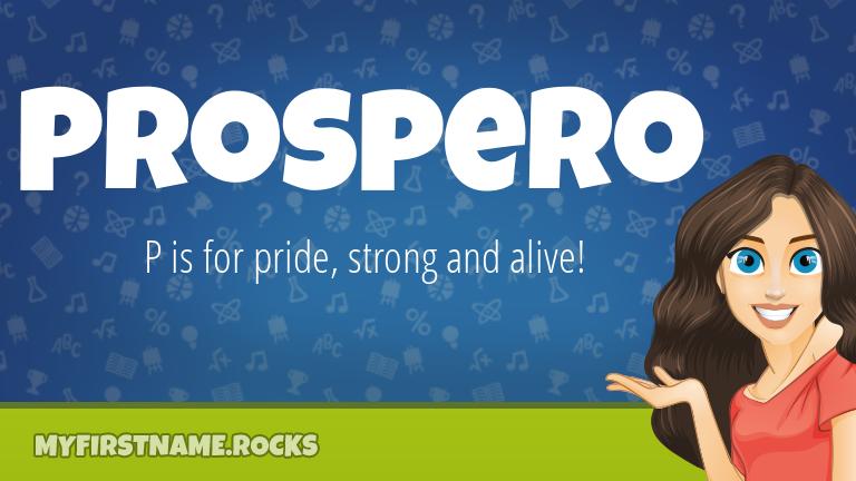 My First Name Prospero Rocks!