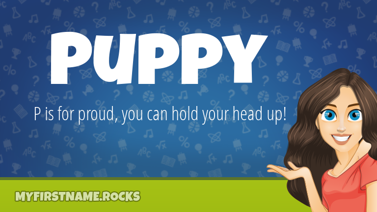 My First Name Puppy Rocks!