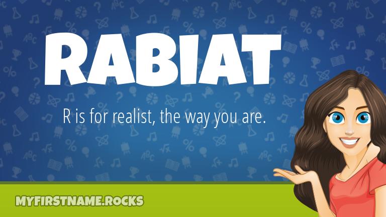My First Name Rabiat Rocks!