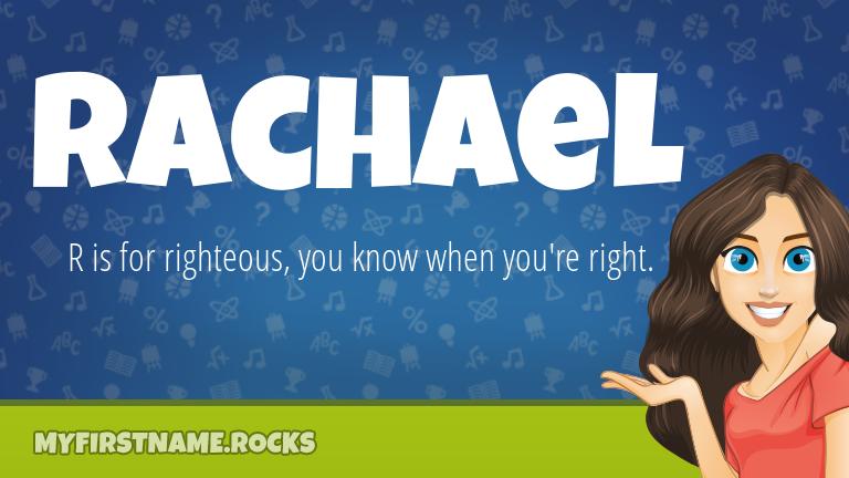 My First Name Rachael Rocks!