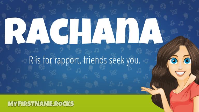 My First Name Rachana Rocks!